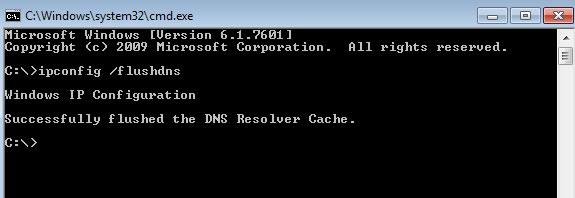 curatare cache DNS